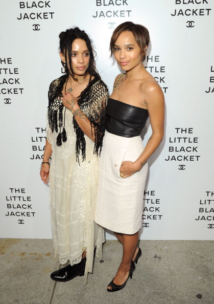 Zoe Kravitz and Lisa Bonet at a chanel party