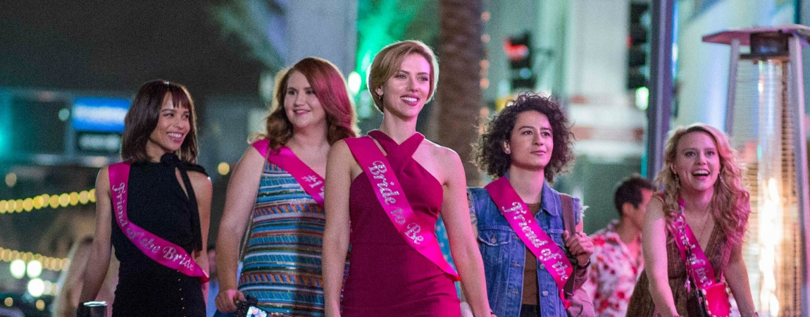 Zoë Kravitz, Jillian Bell, Scarlett Johansson, Ilana Glazer, and Kate McKinnon in Rough Night